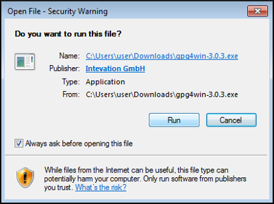 gpg4win installer security